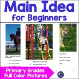 Teaching Main Idea Elementary Primary Level Using Real Photos Answer Key