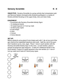 Teaching the Nervous System in P.E.: Sensory Scramble