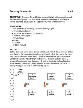 Teaching the Nervous System in P.E.: Sensory Scramble