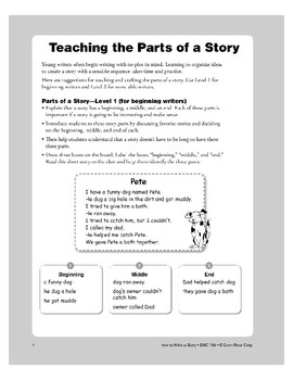 Teaching the Parts of a Story