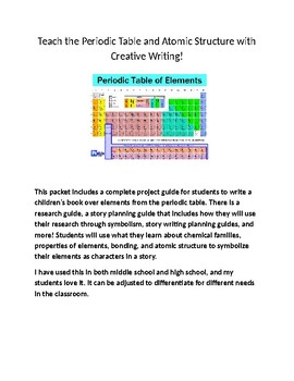 Teaching the Periodic Table and Atomic Structure with Creative Writing