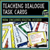 Teaching Dialogue: Writing & Punctuating Dialogue Task Cards | Distance Learning