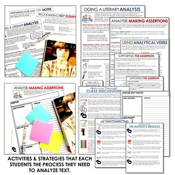 Teaching the Process for Literary Analysis: Activities & Strategies