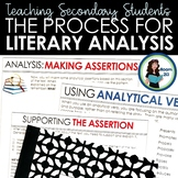 Teaching the Process for Literary Analysis: Activities & S