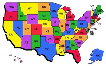 Teaching the States and Capitals flash cards with script: Common Core Aligned