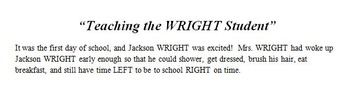 Teaching the WRIGHT Student
