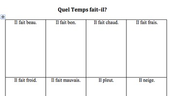 Teaching the Weather in the French Classroom: Quel Temps Fait-it?