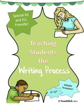Teaching the Writing Process Prewriting, Editing, Revising Templates 5th-12th