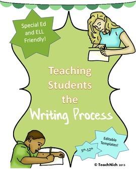 Teaching the Writing Process Prewriting, Editing, Revising Templates 5th-12th
