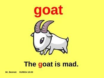 Teaching the consonant G  Powerpoint