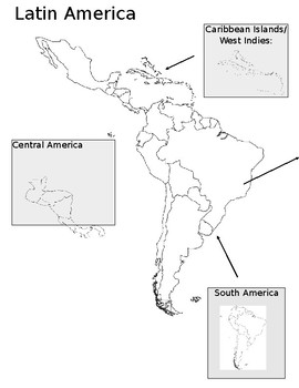 Teaching the sections of Latin America