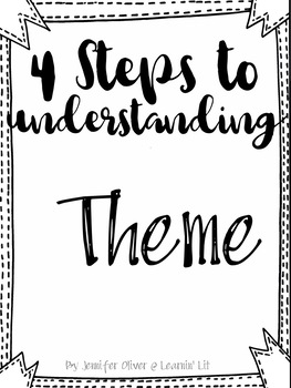 Reading skills and strategies: Teaching theme the easy way! Interactive notebook