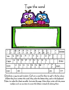 Keyboarding activities for kids