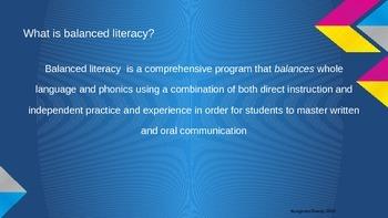 Teaching with Balanced Literacy