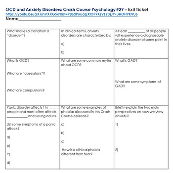 Crash Courses Psychology Package (Depressive and Anxiety Disorders)