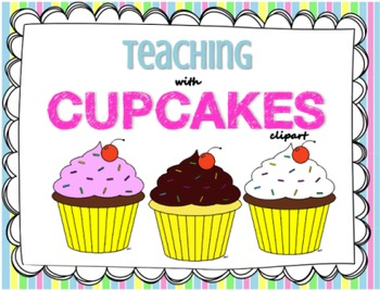 Teaching with Cupcakes Clipart Pack