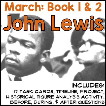 March: Book One by John Lewis (Worksheet)