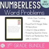 Teaching with Numberless Word Problems 3rd Grade Bundle