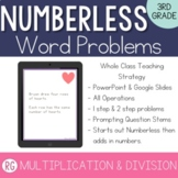 Multiplication & Division Word Problem Strategy-Solve Numberless Story Problems
