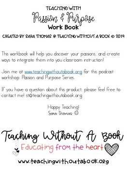 Teaching with Passion and Purpose Workbook