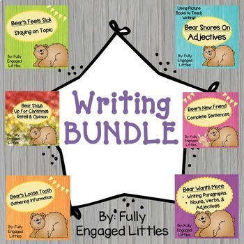 Adjectives, Staying on Topic, Gathering Information,& Complete Sentences-Bundle