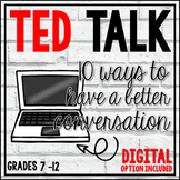 TED Talks Lesson (10 Ways to Have a Better Conversation)