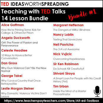 TED Talks 14 Lesson Bundle