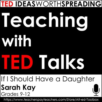 TED Talks Lesson (If I Should Have a Daughter...)