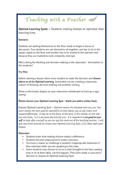 Classroom Seating - Student's Choice - Optimal Learning Spots