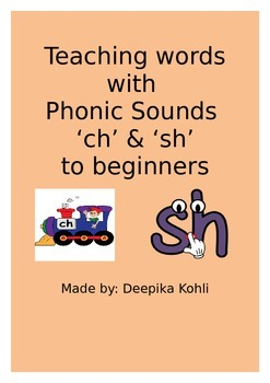 Teaching words with ch and sh sound to beginners