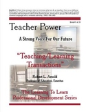 """Teaching/Learning Transactions"" Booklet #1"