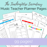 TeachingWise Music Teacher Planner Pages – Ink Saver Version