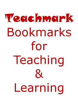 Teachmarks - Bookmarks for Teaching Reading Strategies