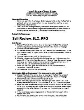 Teachscape Cheat Sheet