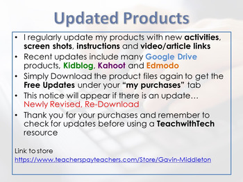 TeachwithTech Updated Products!