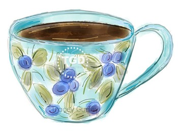 Teacup Painting, teacup clip art, Printable Tracey Gurley Designs
