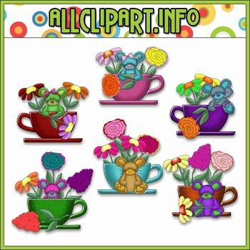 BUNDLED SET - Teacups & Blooms Clip Art & Digital Stamp Bundle - Cheryl Seslar