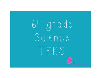 Teal 6th grade Science TEKS