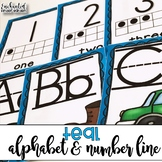 Teal ABC and Number Line