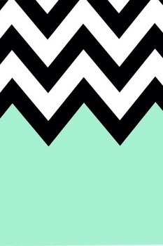Teal, Black, and White Chevron Calendar Numbers