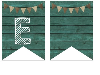 Teal & Burlap Class Decor Welcome Bunting Banner