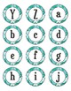 Teal Camouflage Dot Labels