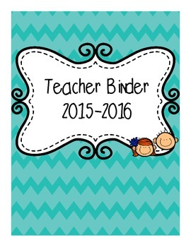Teal Chevron Binder Cover