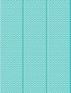 Teal Chevron Bulletin Board Border and Letter Set