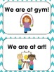 Teal Chevron Classroom Door Signs (We are at...)