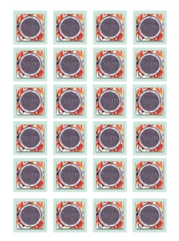 Teal Chevron Floral Lexile Level Labels for Books and Book Bins, Avery 22805
