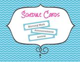 Teal Chevron Schedule Cards