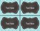 Teal Chevron Supply and Math Manipulative Bin Labels