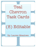 Teal Chevron Task Cards (8)
