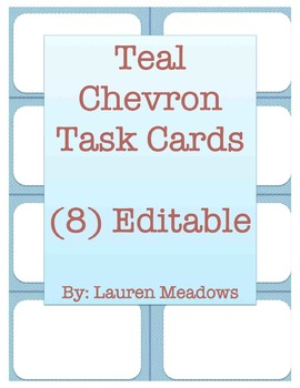 Teal Chevron Task Cards (8)